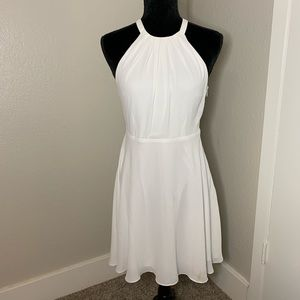 Express white halter dress